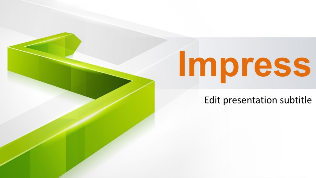 3D Green Line PowerPoint Template