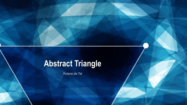 Abstract Triangle PowerPoint Template