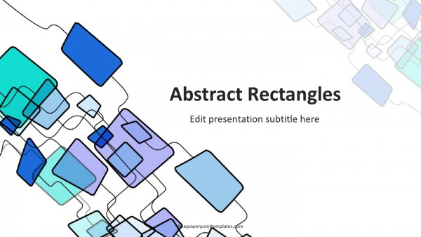 Abstract Rectangles PowerPoint Template