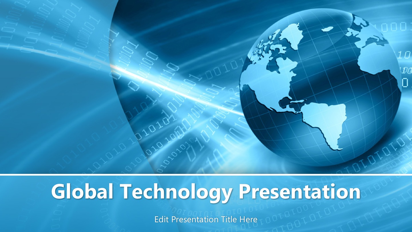 Home powerpoint templates global technology powerpoint template toneelgroepblik Choice Image